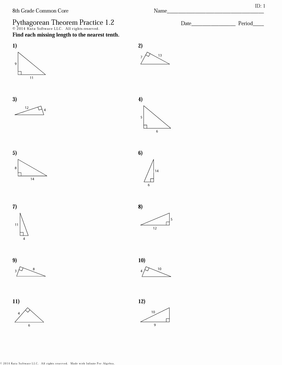 Pythagorean theorem Worksheet 8th Grade Unique Worksheet 8th Grade Algebra 1 Worksheets Grass Fedjp