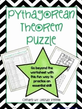 Pythagorean theorem Worksheet Answer Key Inspirational Pythagorean theorem Puzzle 8 G 7 Geometry