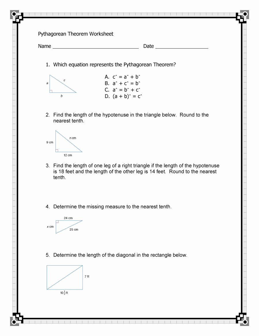 Pythagorean theorem Worksheet Answers Best Of 48 Pythagorean theorem Worksheet with Answers [word Pdf]