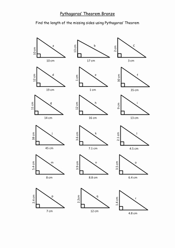 Pythagorean theorem Worksheet Answers Best Of Pythagoras Basic Continued Ks3 by Teachbynumbers
