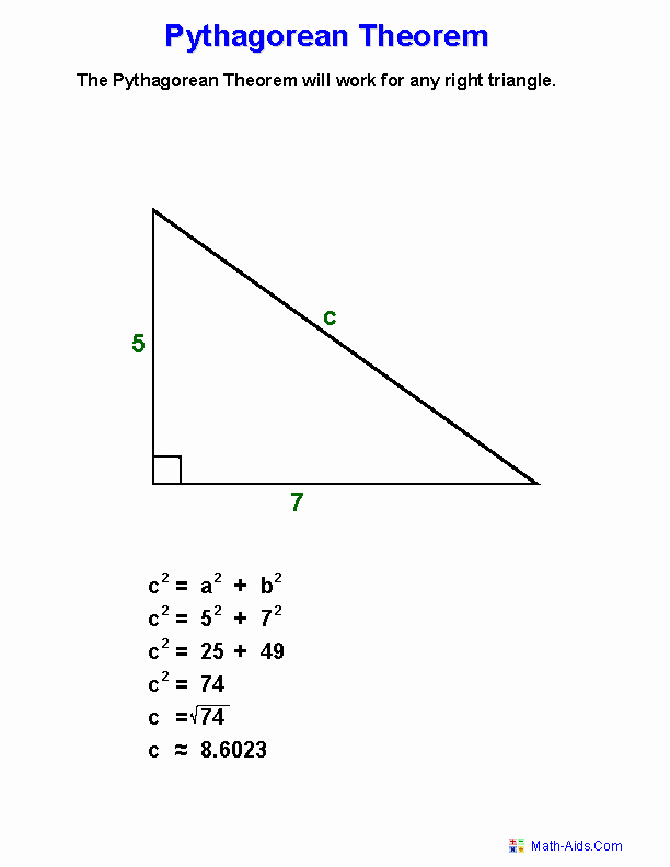 Pythagorean theorem Worksheet Answers Elegant Pythagorean theorem Worksheets