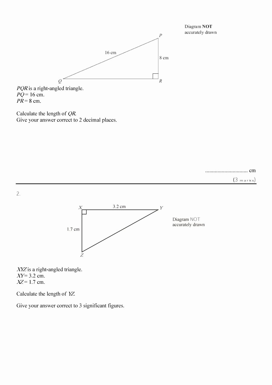 Pythagorean theorem Worksheet Answers New 48 Pythagorean theorem Worksheet with Answers [word Pdf]
