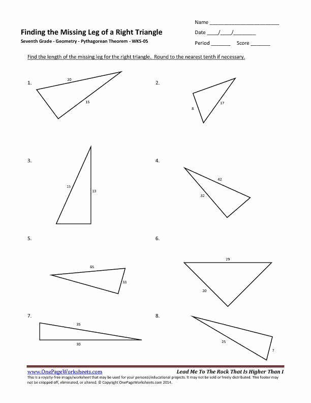 Pythagorean theorem Worksheet with Answers Awesome Pythagorean theorem Worksheet Pdf