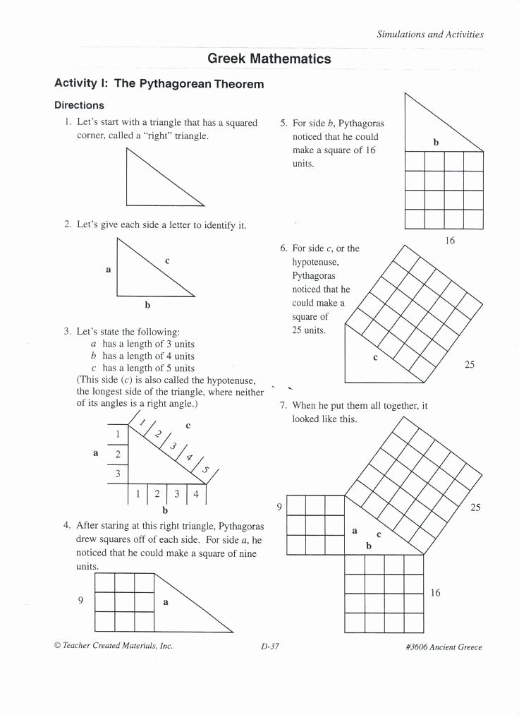 Pythagorean theorem Worksheet with Answers Lovely the Pythagorean theorem Worksheet Answers