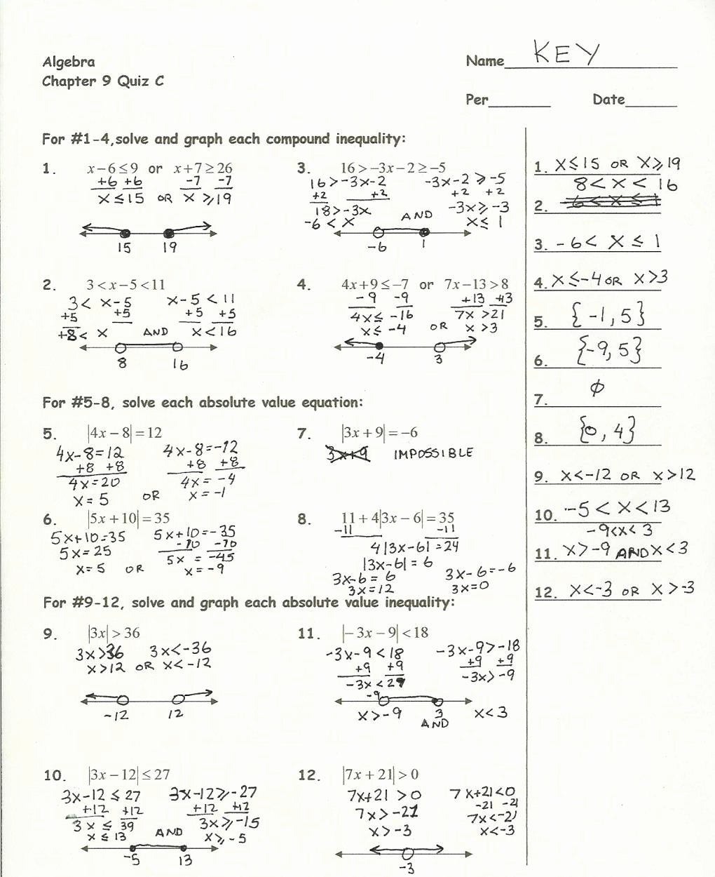 Quadratic Equation Worksheet with Answers Beautiful solving Quadratic Equations by Factoring Worksheet Answers