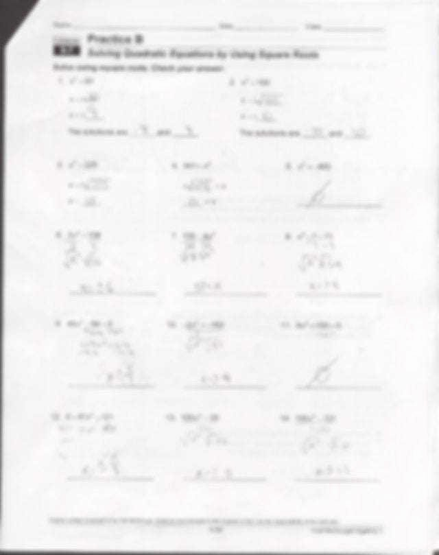 Quadratic Equation Worksheet with Answers Luxury solving Quadratic Equations by Factoring Worksheet Answers