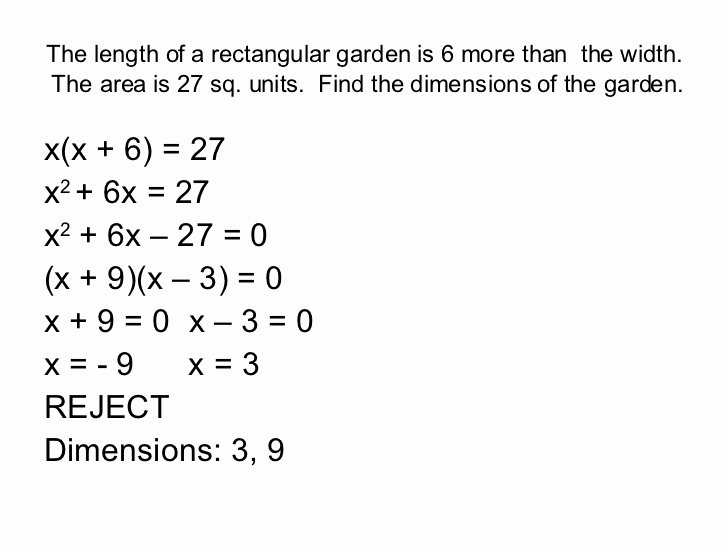 Quadratic Equations Word Problems Worksheet Best Of Problem solving with Quadratic Equations Questions