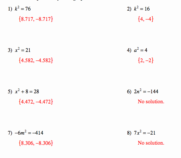 Quadratic formula Worksheet with Answers Elegant Pangarau Quadratic Equations and Answers for Worksheets
