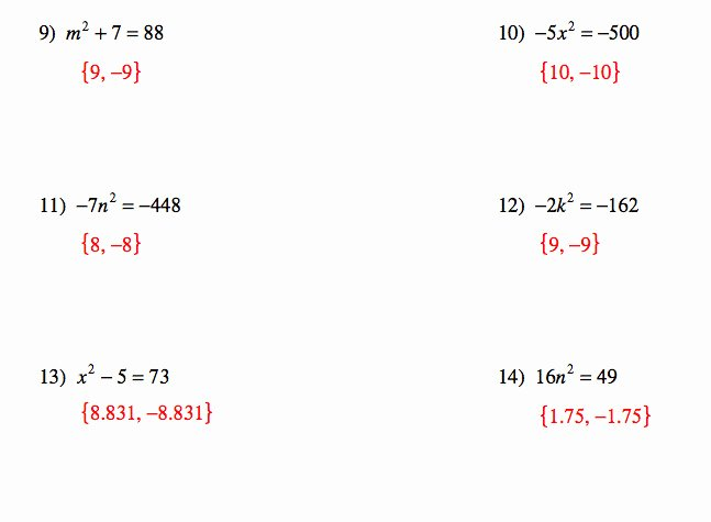 Quadratic formula Worksheet with Answers Fresh Quadratic Equations Worksheet