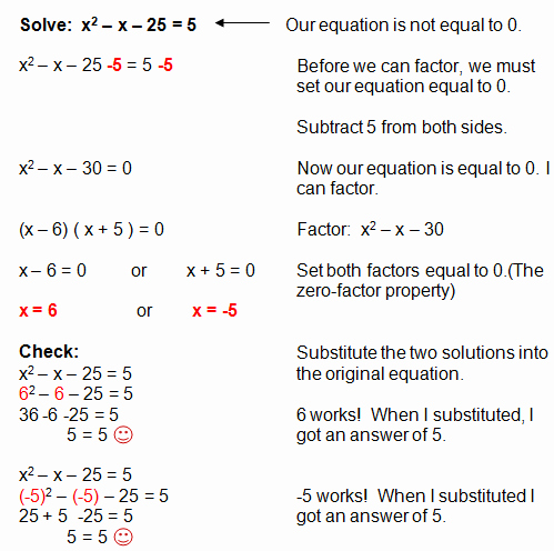 Quadratic formula Worksheet with Answers New Factoring Quadratic Equations