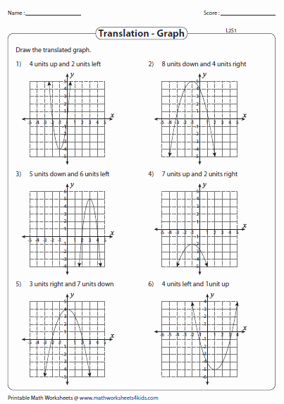 Quadratic Functions Worksheet Answers Best Of Worksheet Transformations Quadratic Functions Answers
