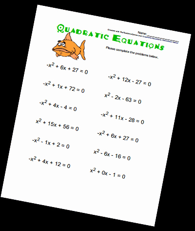 Quadratic Functions Worksheet with Answers Beautiful Quadratic Equations Worksheets