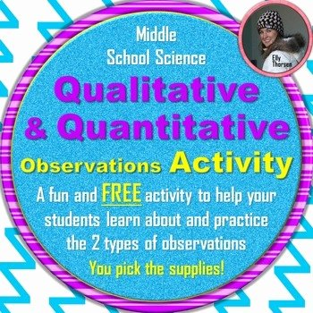 Qualitative Vs Quantitative Worksheet Beautiful Qualitative and Quantitative Observations Activity by Elly