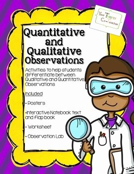 Qualitative Vs Quantitative Worksheet Elegant Qualitative and Quantitative Observations Worksheet the