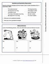 Qualitative Vs Quantitative Worksheet Lovely Qualitative and Quantitative Observations 7th 9th Grade