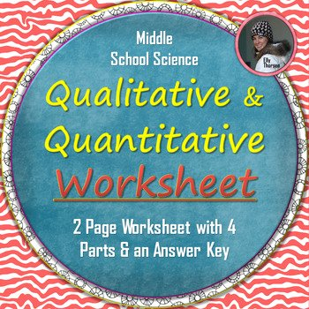 Qualitative Vs Quantitative Worksheet Unique Qualitative and Quantitative Observations Worksheet by