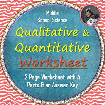 Qualitative Vs Quantitative Worksheet Unique Qualitative and Quantitative Observations Worksheet by