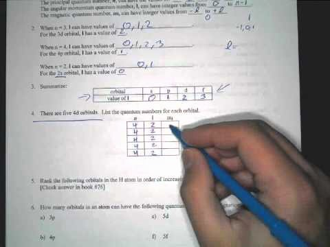 Quantum Numbers Practice Worksheet Awesome Quantum Number Practice Sheet Explanation