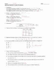 Quantum Numbers Practice Worksheet Inspirational Quantum Number Practice Worksheet Key Name M Ev Date