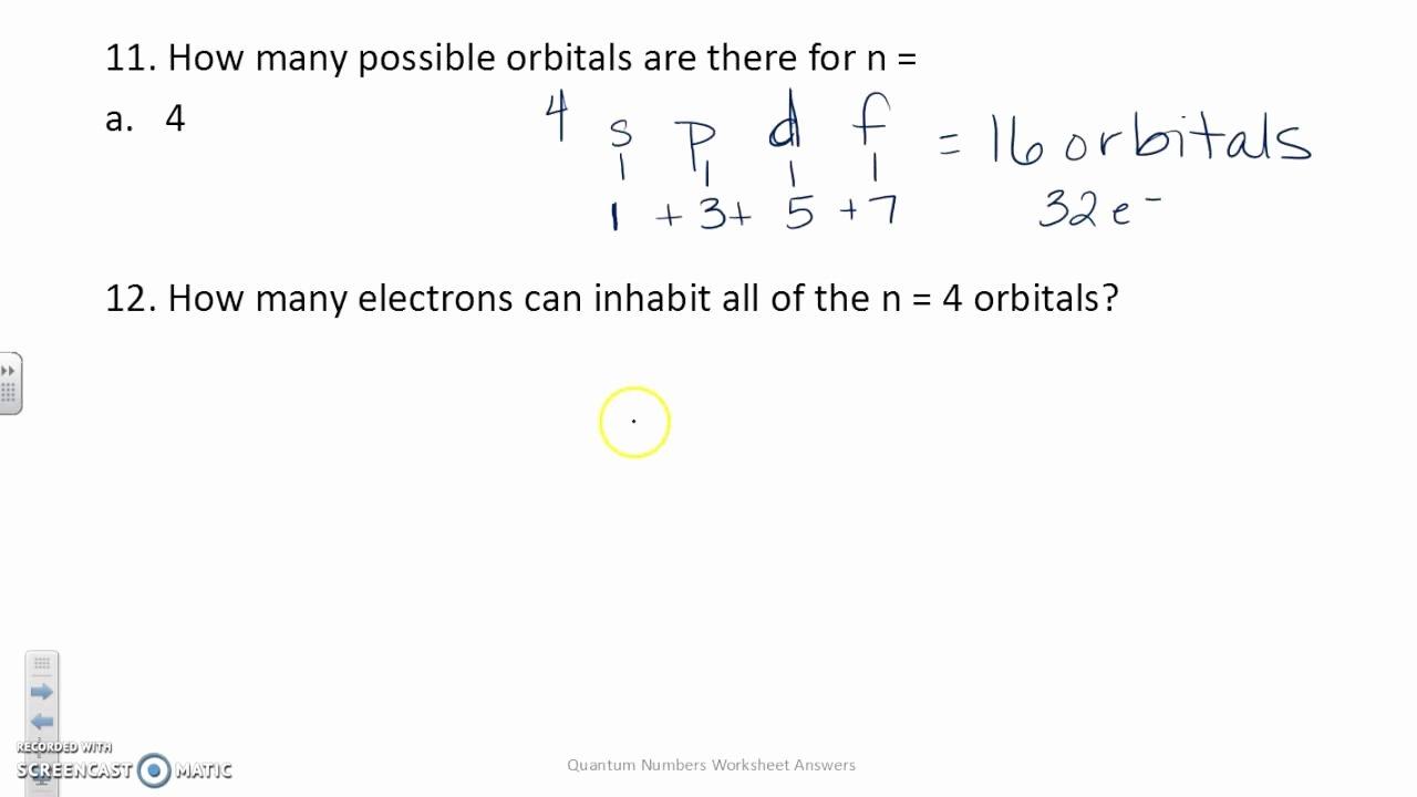 Quantum Numbers Practice Worksheet Inspirational Quantum Numbers Worksheet Answers