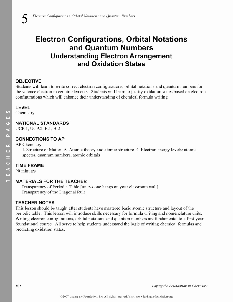 Quantum Numbers Worksheet Answers Best Of Chemistry 1 Worksheet 4 1 atomic Spectra