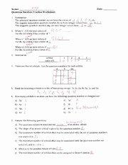 Quantum Numbers Worksheet Answers Luxury Quantum Number Practice Worksheet Key Name M Ev Date