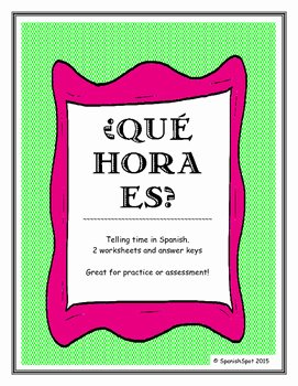 Que Hora Es Worksheet Awesome What Time is It ¿qué Hora Es Worksheets for Reading