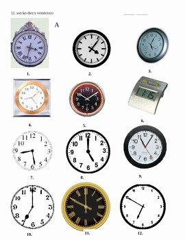 Que Hora Es Worksheet Beautiful ¿qué Hora Es Partner Activity for Telling Time In Spanish