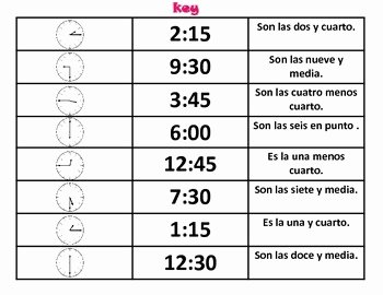 Que Hora Es Worksheet Inspirational ¿que Hora Es Telling Time In Spanish by Spanish and