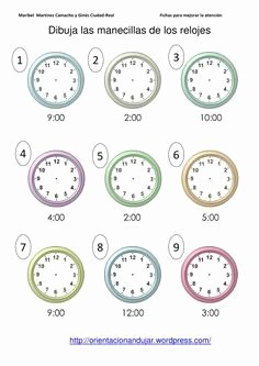 Que Hora Es Worksheet Inspirational Teachers Worksheets Clocks Pics