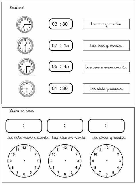 Que Hora Es Worksheet Lovely ¿qué Hora Es Ejercicio 3 Clase De Espanol
