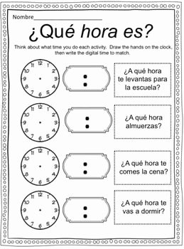 Que Hora Es Worksheet Lovely ¿qué Hora Es Spanish Time