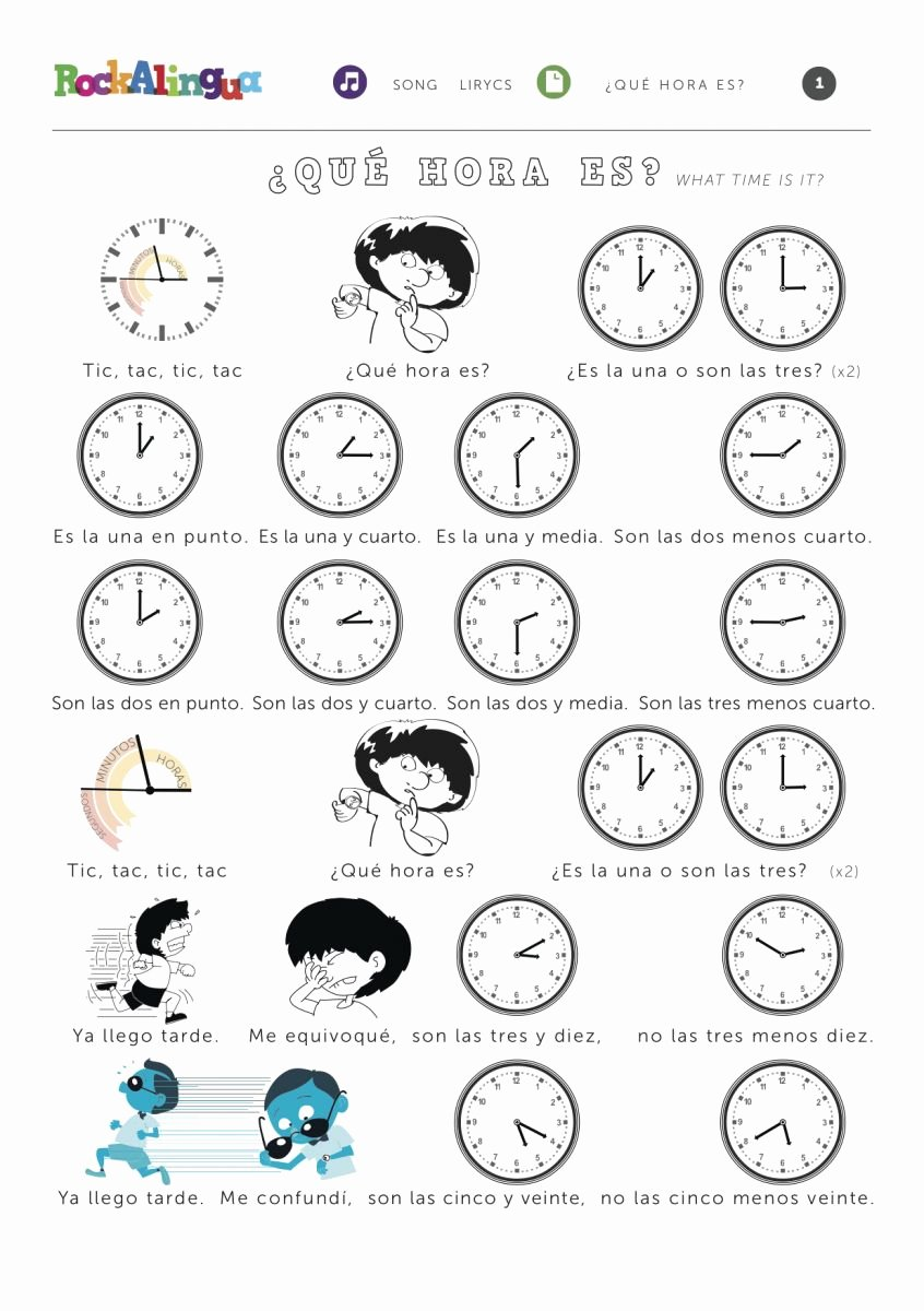 Que Hora Es Worksheet Luxury What Time is It