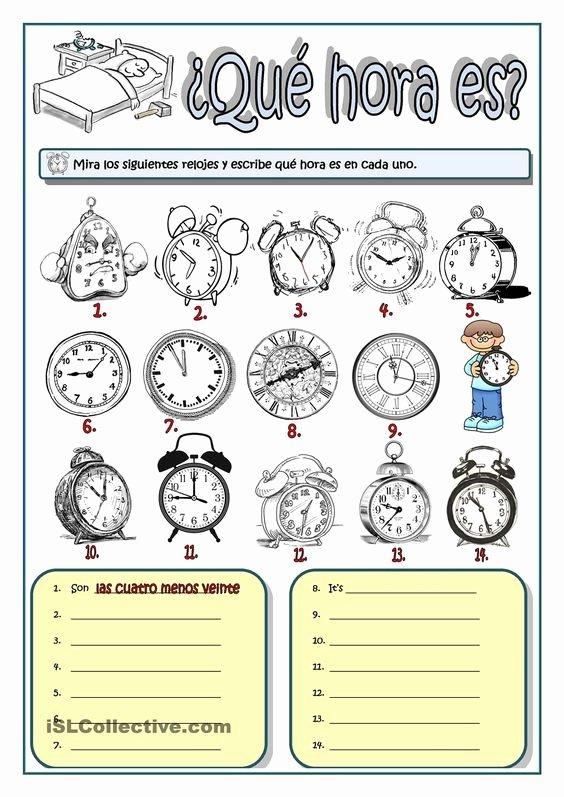 Que Hora Es Worksheet New ¿qu Hora Es Tiempo Y Medida Pinterest