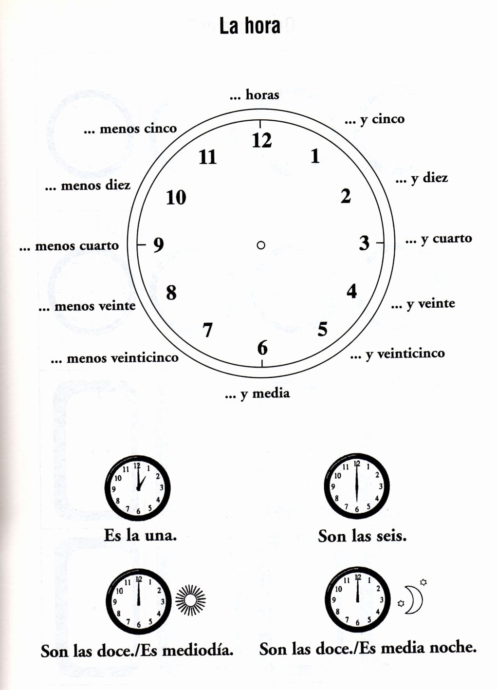 Que Hora Es Worksheet New Telling Time In Spanish Worksheet with Answers