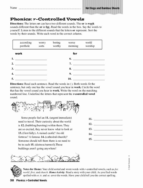 R Controlled Vowels Worksheet Awesome Phonics R Controlled Vowels Worksheet for 1st 3rd Grade