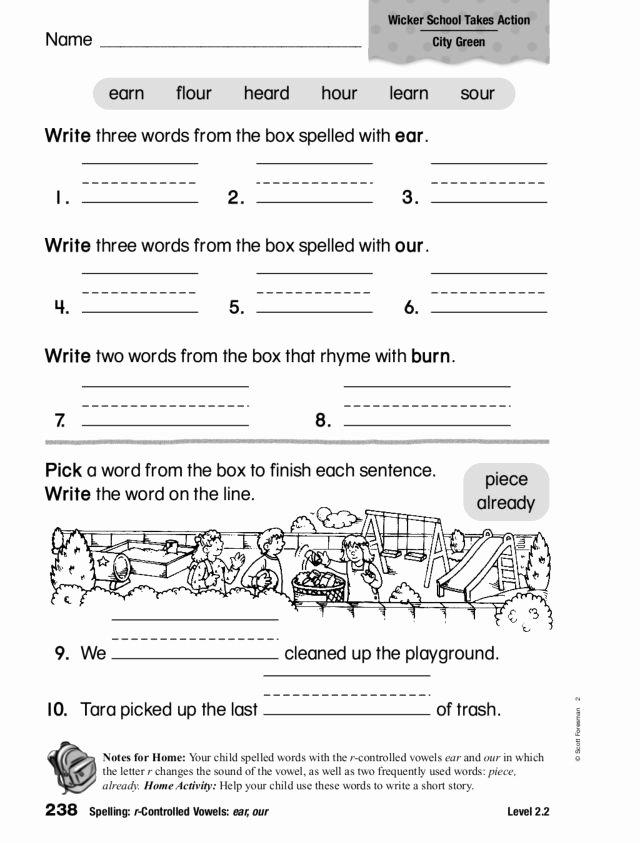 R Controlled Vowels Worksheet Elegant Spelling R Controlled Vowels Lesson Plans & Worksheets
