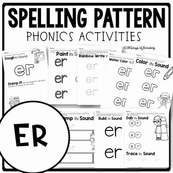 R Controlled Vowels Worksheet New R Controlled Vowel Worksheets Er by 180 Days Of Reading