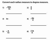 Radians to Degrees Worksheet Beautiful Degrees and Radians Worksheets