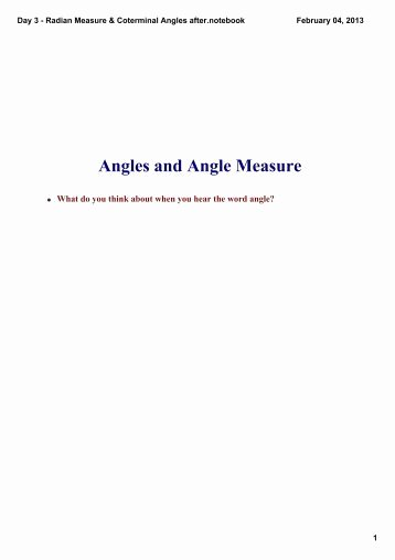 Radians to Degrees Worksheet Beautiful Worksheet 8 Radian and Degree Measures for Angles Draw An