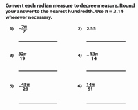 Radians to Degrees Worksheet Best Of Degrees and Radians Worksheets