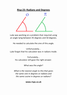 Radians to Degrees Worksheet Lovely Radians and Degrees Lesson Worksheets by Jonny Griffiths