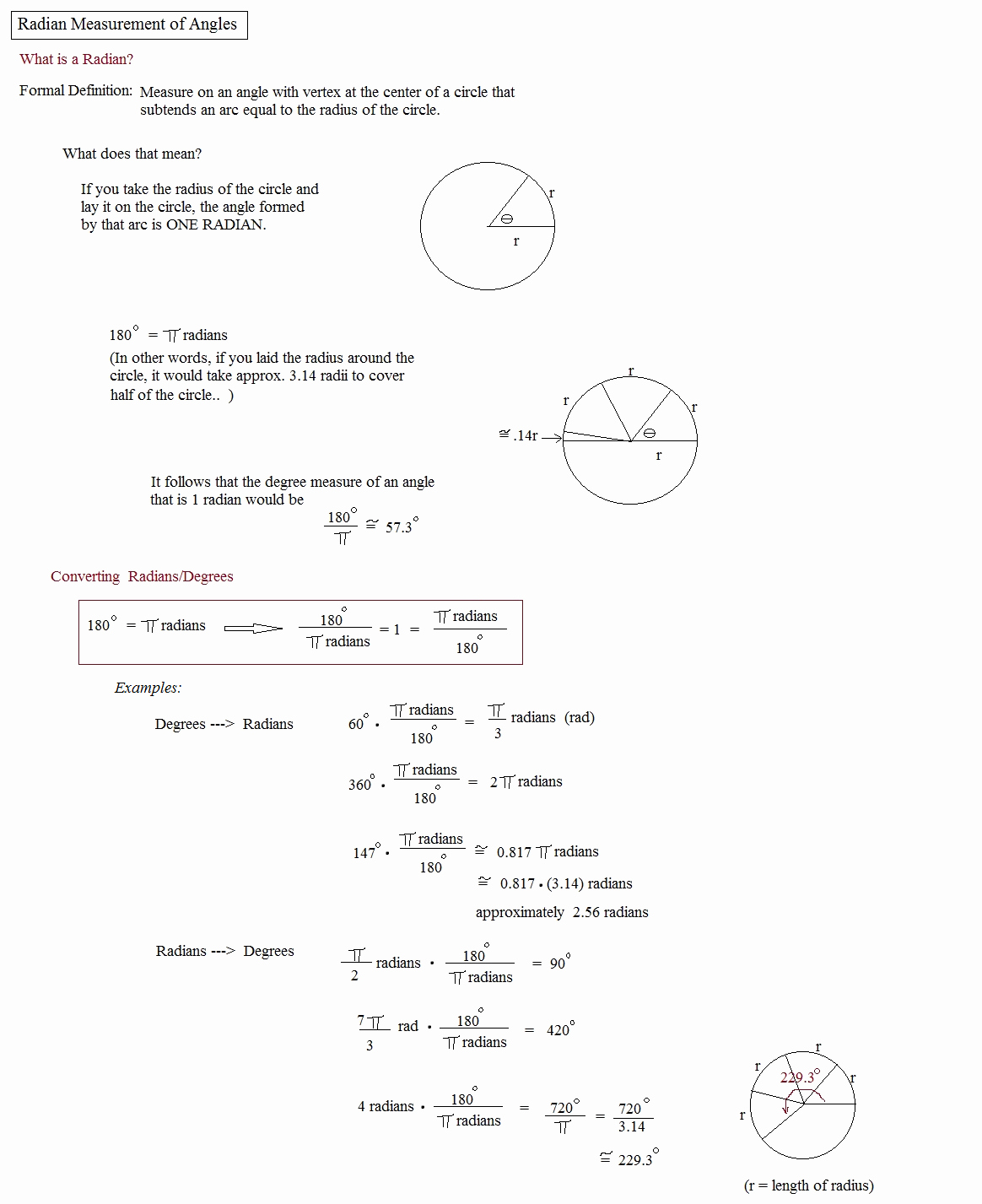 Radians to Degrees Worksheet Luxury Math Plane Angle Measurement
