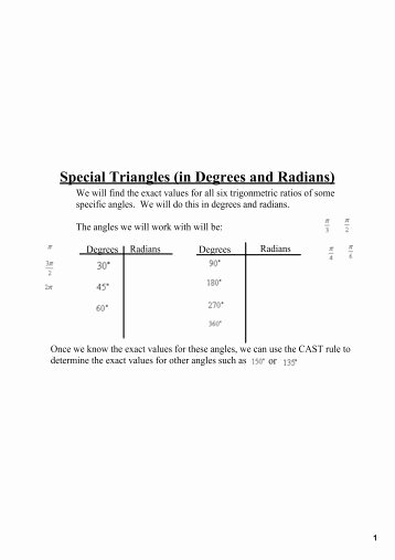 Radians to Degrees Worksheet Luxury Worksheet 8 Radian and Degree Measures for Angles Draw An