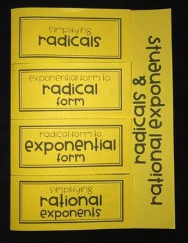 Radical and Rational Exponents Worksheet Inspirational Radicals & Rational Exponents Algebra Foldable by Lisa