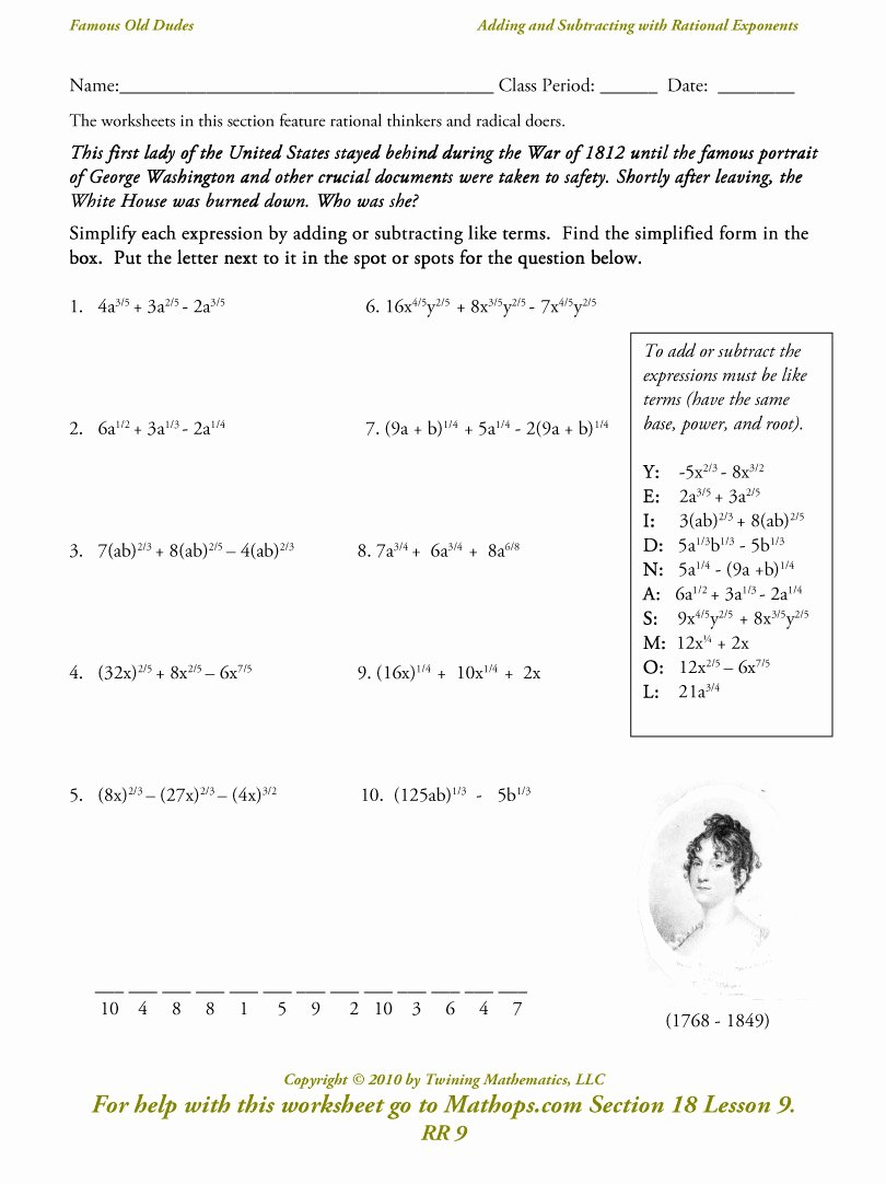 Radical and Rational Exponents Worksheet Lovely Radicals and Rational Exponents Worksheet Funresearcher