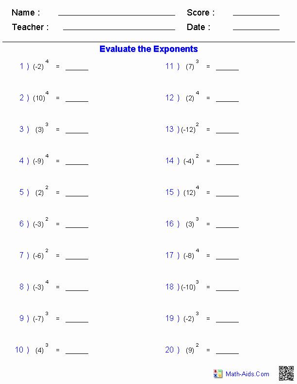 Radical and Rational Exponents Worksheet Luxury Exponents and Radicals Worksheets