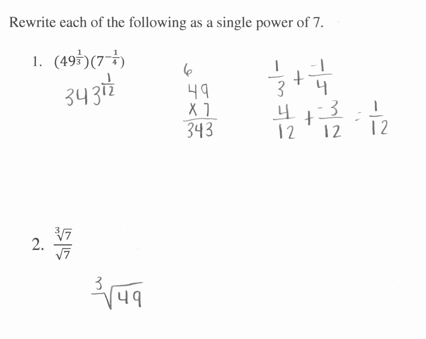 Radical and Rational Exponents Worksheet Luxury Rational Exponents 4