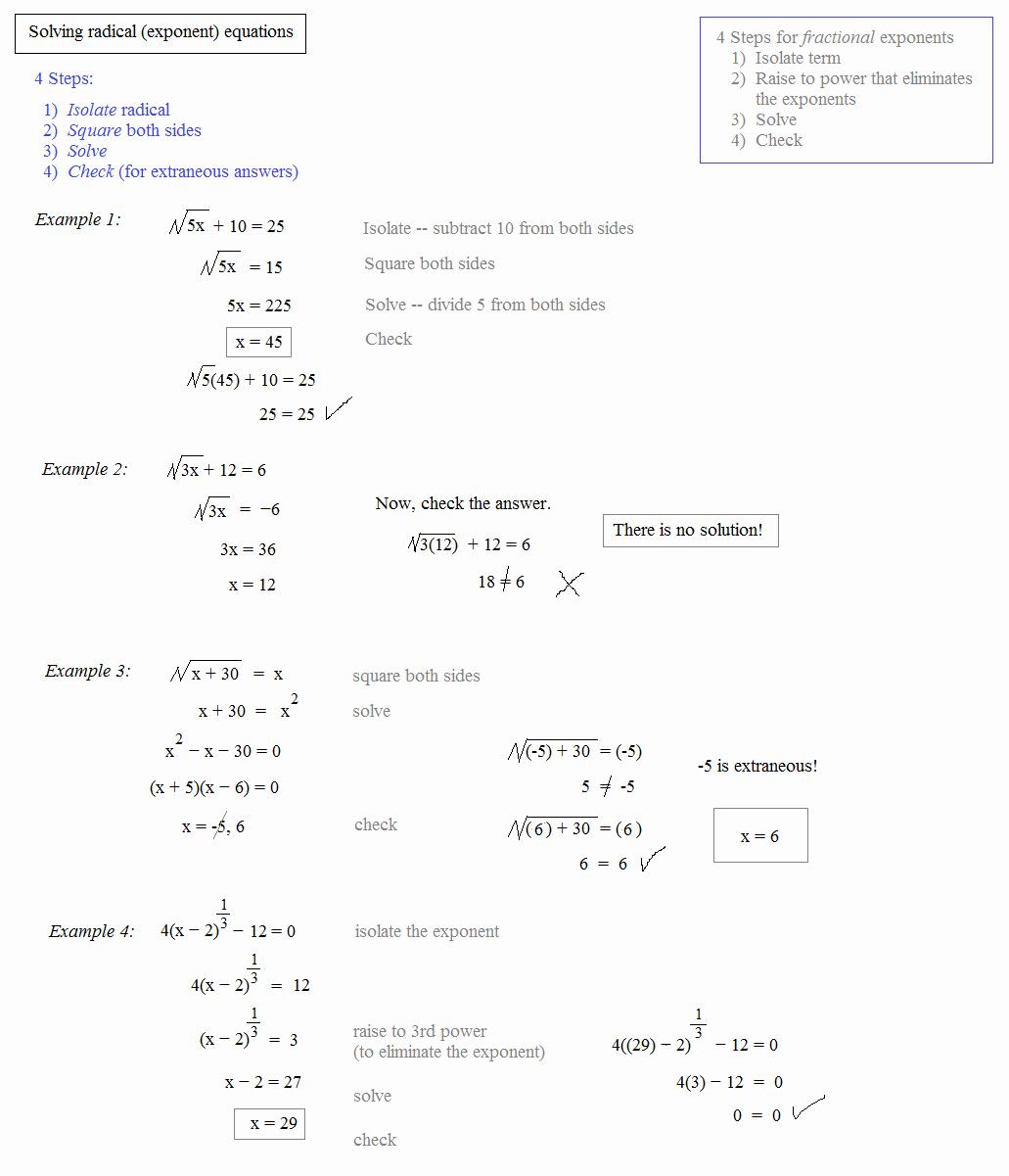 Radical and Rational Exponents Worksheet Unique Math Plane Rational Exponents and Radical Equations