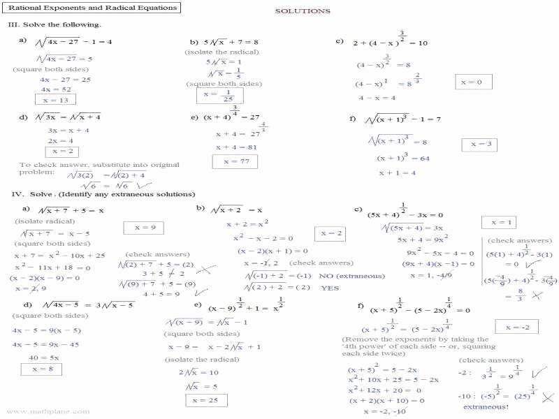 Radicals and Rational Exponents Worksheet Lovely Rational Exponents Worksheet